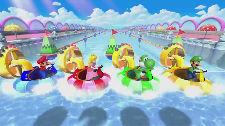 Mario Party 10 - Rapid River Race Minigame