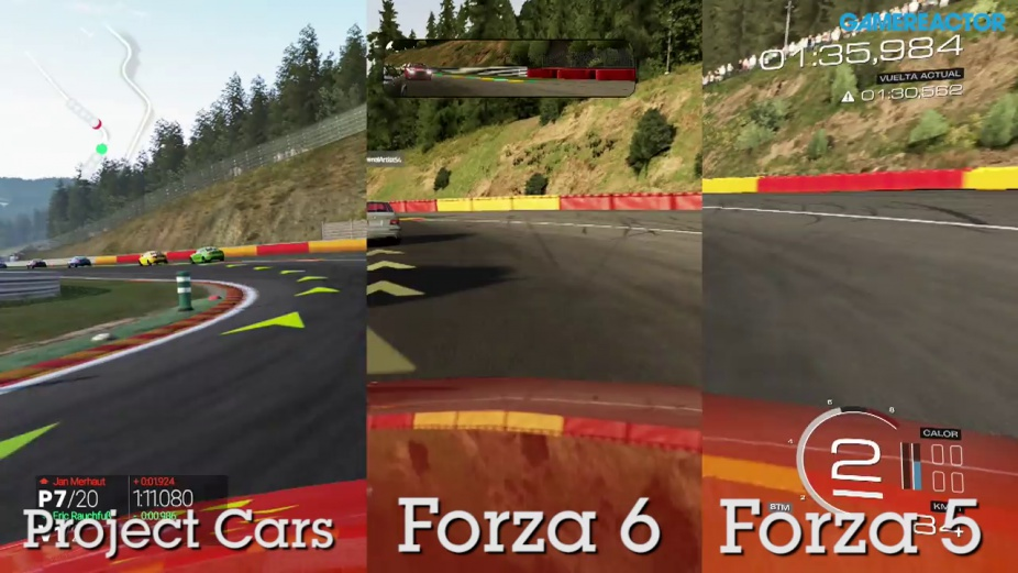 Forza Motorsport 6 Vs Project CARS 5 Comparison Gameplay Spa Francorchamps