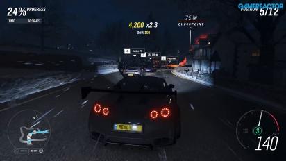 Forza Horizon 4 - Winter Street Race 4K 60 fps Gameplay