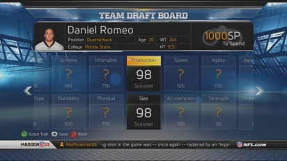 Madden NFL 13 - Career Scouting and Draft Guide Trailer