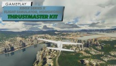 Flight Simulator - Flying over Hong Kong in 4K on Xbox Series X with T.Flight Full Kit