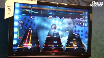 E3 10: Rock Band 3 gameplay