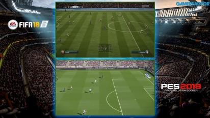 FIFA 18 vs. PES 2018 Comparison