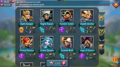 Lords Mobile - A Selection of 8 Heroes