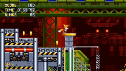 Sonic Mania - Chemical Plant Zone Act 2 Gameplay