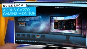 AORUS CV27Q Gaming Monitor - Quick Look