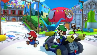 Paper Mario: The Origami King Gameplay - Nintendo Treehouse: Live | July 2020 Trailer