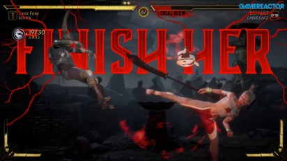 Mortal Kombat 11 - Sonya vs Cassie Cage Gameplay
