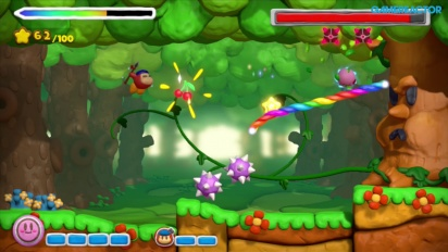 Kirby and the Rainbow Paintbrush - Co-Op Gameplay