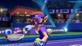 Mario Tennis Aces - Waluigi vs Yoshi Demo Gameplay