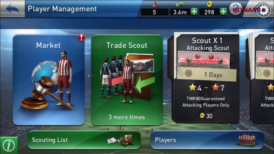 pes manager club