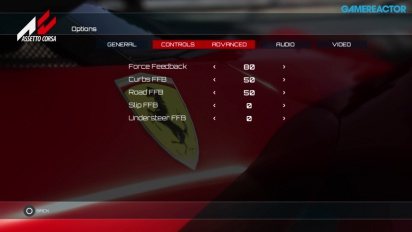Assetto Corsa - Consoles GUI and Force Feedback settings explanation