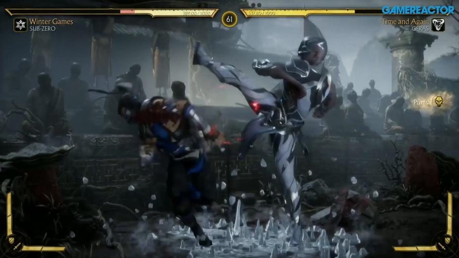 Mortal Kombat 11 Sub Zero Vs Geras Reveal Event Gameplay