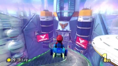 Mario Kart 8 - 200cc Mute City Gameplay