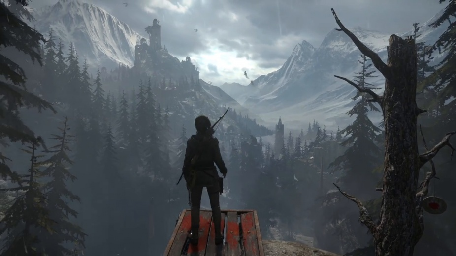 Rise Of The Tomb Raider 20 Year Celebration 4k Ps4 Pro Footage
