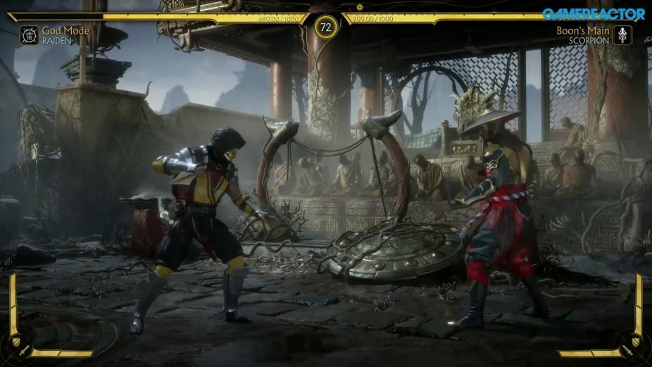 Mortal Kombat 11 - Raiden vs  Scorpion Reveal Event Gameplay