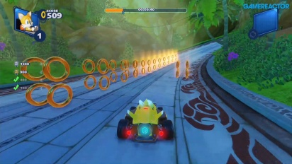 Team Sonic Racing - Lost Palace Ring Challenge Gameplay