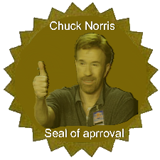 chuck norris approved stamp - photo #14